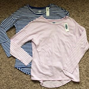 New w/Tags! Bundle of 2 Super Soft Striped Tees